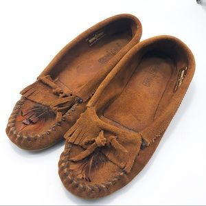Minnetonka Leather Moccasins sz 9